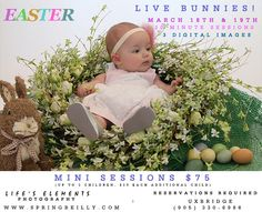 Easter mini sessions in Uxbridge, Durham Region, Ontario by Spring Reilly of Life's Elements Photography. www.springreilly.com