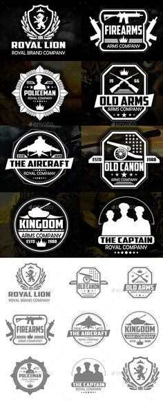 Military Badges and Logos - EPS Template • Only available here ➝ http://graphicriver.net/item/military-badges-and-logos/12722353?ref=pxcr