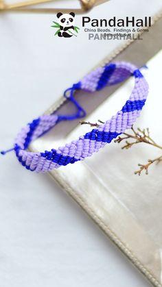 #PandaHall--Braided #Bracelet with #Nylonthread #Decoration, #JewelryMaking, #DIY. Diy Bracelets Video, Diy Friendship Bracelets Tutorial, Diy Bracelets Patterns, Bracelet Tutorial, Friendship Bracelet Patterns, Handmade Bracelets, Handmade Jewelry, Bracelet En Cuir Diy, Diy Leather Bracelet
