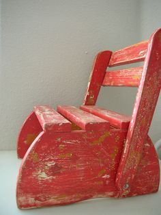 Child's Folding Stool. Step. Chair Wooden Vintage Painted Step Stool From The…