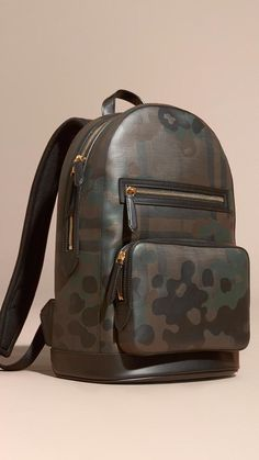 #TIMELESSBAGS Pinterest - @houstonsoho   @burberry Camouflage #CAMO Print #BACKPACK