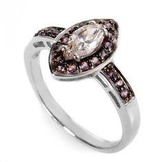 Rings 14K White Gold Diamond & Pink Sapphire Ring LD4-05772WPSA