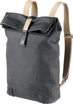 Brooks | Black Pickwick Canvas Roll-top Backpack for Men | Lyst Ebags BackPack Tumblr | leather backpack tumblr | cute backpacks tumblr http://ebagsbackpack.tumblr.com/