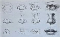 Delineate Your Lips Augen, Mund und Nase zeichnen lernen-dekoking-com - How to draw lips correctly? The first thing to keep in mind is the shape of your lips: if they are thin or thick and if you have the M (or heart) pronounced or barely suggested. Drawing Lessons, Drawing Techniques, Drawing Projects, Drawing Sketches, Pencil Drawings, Drawing Faces, Mouth Drawing, Sketching, Nose Drawing