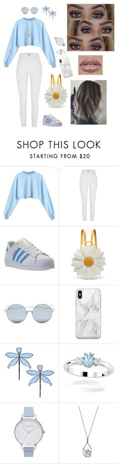 """""""Sky for my grandfather i miss you"""" by statusempress ❤ liked on Polyvore featuring adidas, Charlotte Olympia, For Art's Sake, Recover, Tory Burch, Olivia Burton and Anastasia Beverly Hills"""