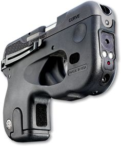 The Taurus Curve! This is the gun I want- It has a curved base to fit comfortably against your body, 6+1 .380ACP ammo capacity, laser and LED lights integrated, a built-in belt clip and a quick deploy trigger safety guard! All for $400!