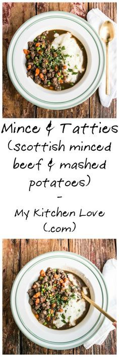 Scottish Mince & Tatties for a a comfort food meal that is a family favourite meal my Nana made. It's a comforting traditional Scottish mince recipe. Scottish Dishes, Scottish Recipes, Irish Recipes, English Recipes, Mince Recipes, Cooking Recipes, Uk Recipes, Frugal Recipes, Party Recipes