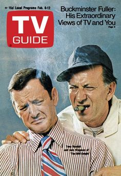 TV Guide February 6, 1971 - Tony Randall and Jack Klugman of The Odd Couple.