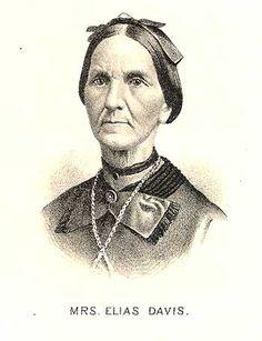1880 LIVINGSTON COUNTY HISTORY - Image of Mrs. Elias Davis