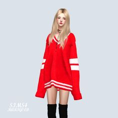 Long Sleeves V-Neck Sweater_Long Sleeve V Neck Sweater_Women's mar . The Sims 4 Pc, Sims 4 Teen, Sims 4 Toddler, Sims Cc, Sims 4 Cc Kids Clothing, Sims 4 Mods Clothes, Sims Mods, Retro Outfits, Kpop Outfits