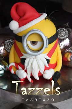 We have Elvis minions, bride and groom minions and even a minion on a Pogo stick. Check out these super fun top minion cakes. Minion Noel, Minion Christmas, Christmas Goodies, Christmas Treats, Christmas Baking, Christmas Cakes, Xmas Cakes, Christmas Time, Fancy Cakes