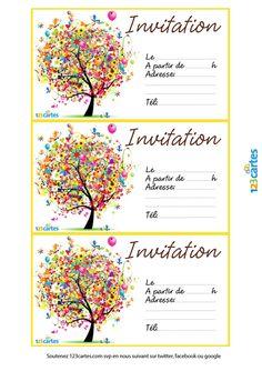 Carte Invitation Anniversaire Enfant Gratuite à Imprimer Taille