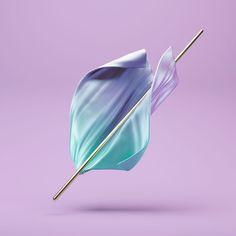 Breeze. #design #digitalart #cloth #3d #pastel #breeze #c4d #cinema4d #octanerender #simulation by iamvisua
