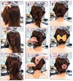 Prosta, fajna fryzura (na święta) :D