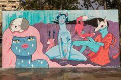 Colaboración con Jaume Montserrat y La Pera Limonera. Parc Les Tres Ximeneies.