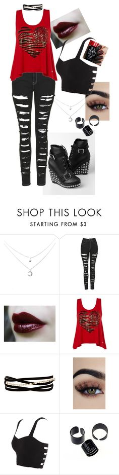 """""""Untitled #12"""" by katie-293 on Polyvore featuring The Ragged Priest, Lipsy, Kenneth Jay Lane and Hot Topic"""