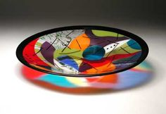 By Carmen Reynolds Fused Glass Plates, Fused Glass Art, Glass Bowls, Glass Fusion Ideas, Glass Photo, Stained Glass Patterns, Glass Etching, Looks Cool, Cut Glass