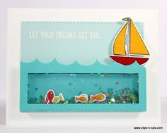Such a Fun Shaker card by Vicky using Simon Says Stamp Exclusives. 3d Cards, Pop Up Cards, Die Cut Cards, Folded Cards, Stampin Up Cards, Slider Cards, Step Cards, Interactive Cards, Card Tags