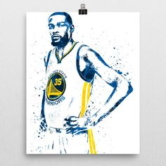Kevin Durant poster. Durant is an American professional basketball player for the Golden State Warriors of the National Basketball Association (NBA). Durant has won an NBA Most Valuable Player Award,
