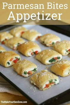 Parmesan Bites Appetizer Recipe - A quick and tasty appetizer that's great for the holidays!