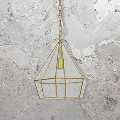Glass Diamond Pendant Light Pendant Light Fitting, Glass Pendant Light, Glass Pendants, Cut Glass, Clear Glass, Lighting Uk, Vintage Globe, Industrial Pendant Lights, Light Fittings