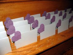 Wedding+Placecard++Silver+Tent+Style+Placecard+with+Plum+by+Davita,+$4.00