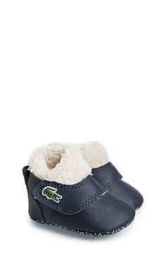 Lacoste Lacoste 'Snug' Crib Shoe (Baby) available at #Nordstrom