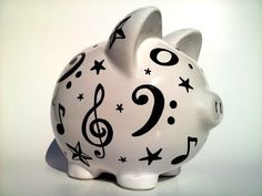 Making It Work: Finding the Funding Pig Bank, Personalized Piggy Bank, Paper Mache Clay, Money Bank, Cute Piggies, This Little Piggy, Make It Work, Music Notes, Good Music