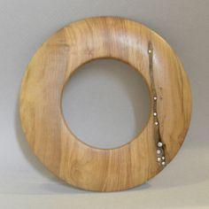 Bracelet |  Ateliers Symbios (Thierry Arabia/Eliane Amalric). Olive wood with diamonds.