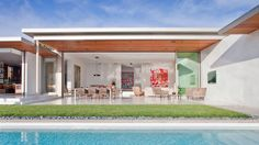 Trousdale Residence by Studio William Hefner, layout, ceiling