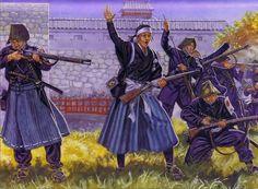 Aizu-Wakamatsu ces a cet lieu qui a eu la guerre de Boshin de 1868-1869, qui opposa les troupes shogunales et impériales, il y avait la jeune fille Yamamoto Yaeko (山本 八重子) aussi appelée Niijima Yae et les Byakkotai était formé de 3 compagnies de fils...