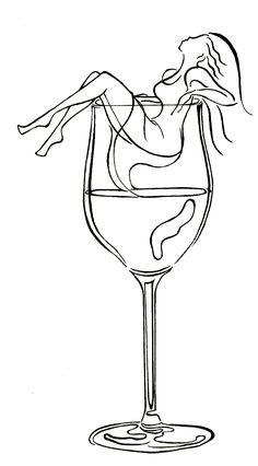 chica, copa de vino