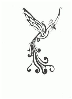 Flying Phoenix Tattoos Design