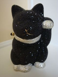 Judith Lieber black cat purse...