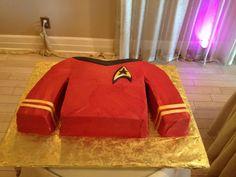 Star Trek Cake: Blue shirt, medical or science division.