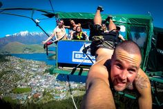 Our Ledge Bungy Crew- the sky's the limit at The Ledge Bungy & Swing in Queenstown, NZ.