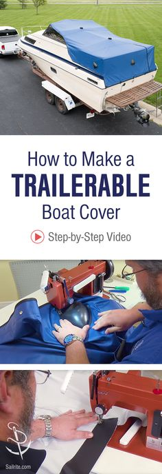 Sew your own boat cover made for trailering. Learn how to pattern and sew a fitted, custom cover with Sailrite's how-to video. Make A Boat, Build Your Own Boat, Diy Boat, Wooden Boat Kits, Wooden Boats, How To Build Abs, Carpentry Skills, Best Boats, Boat Covers