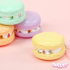 Pastel Macaron Charm - Mobile Accessories | Blippo.com - Japan & Kawaii Shop
