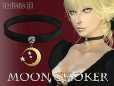 MOON CHOKER for female. 1 color.  Found in TSR Category 'Sims 4 Female Necklaces'