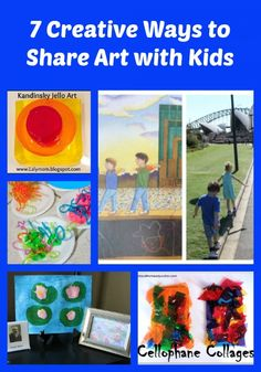 {7 Creative Ways to Share Art with Kids} - unique ideas for learning about art and artists!