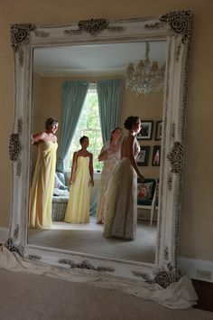 Bride and bridesmaids getting ready Rust Manor House