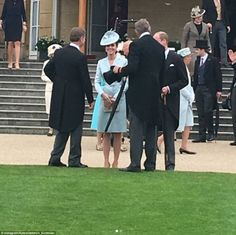 Kate chatted to Andrew Bates and his wife, Janet, about her sister Pippa's wedding at the weekend - and revealed that while she was hugely looking forward to it, she was slightly nervous about how her children, Prince George, three, and two-year-old Princess Charlotte would behave as well.