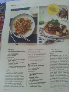 Tarragon chicken and lamb burgers
