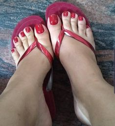 Women's footwear, cute sandals, shoes, high heels & more. Find out the perfect footwear for you. Nice Toes, Pretty Toes, Foot Love, Feet Soles, Women's Feet, Red Toenails, Toe Nails, Long Toenails, Pies Sexy