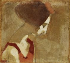 Schjerfbeck, Helene (1862-1946) - Girl with a Swan Neck (Bukowski's Auction Stockholm, 2010) (by RasMarley)