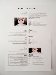 Great resume style that has a young, clean, hip feel to it!