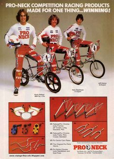 Vintage BMX Ads: PRO-NECK COMPETITION RACING PRODUCTS MADE FOR ONE ...