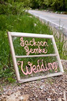 wedding sign-along the lake roads