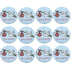 Florida State Seminoles (FSU) 12-Pack Baby Buttons - Blue