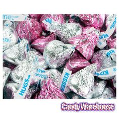 Just found Pink and Silver Hershey's Hugs & Kisses Chocolate Candy: 90-Piece Bag @CandyWarehouse, Thanks for the #CandyAssist!